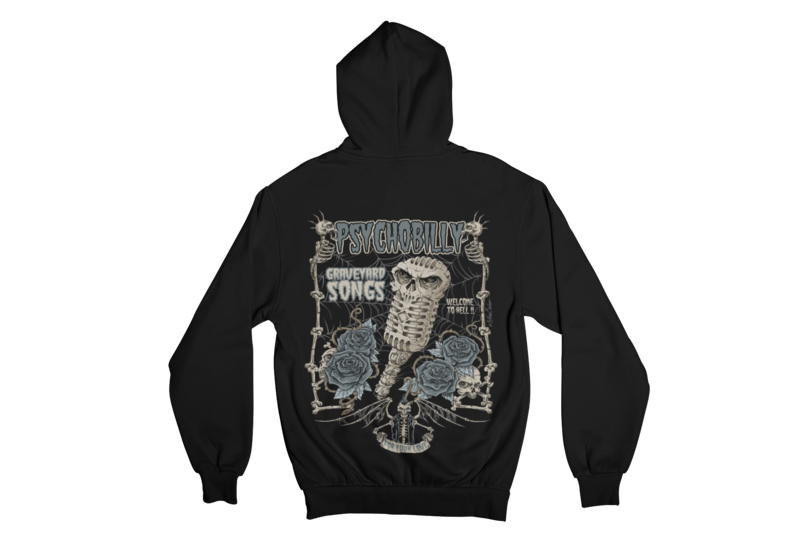 GRAVEYARD SONGS HOODIE ZIP for MEN by NANO BARBERO