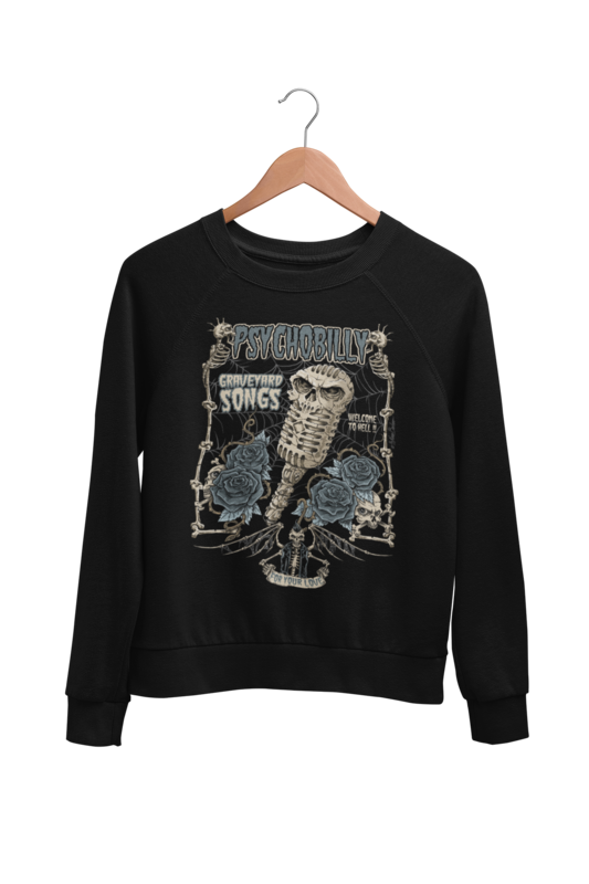 GRAVEYARD SONGS SWEATSHIRT UNISEX BY NANO BARBERO