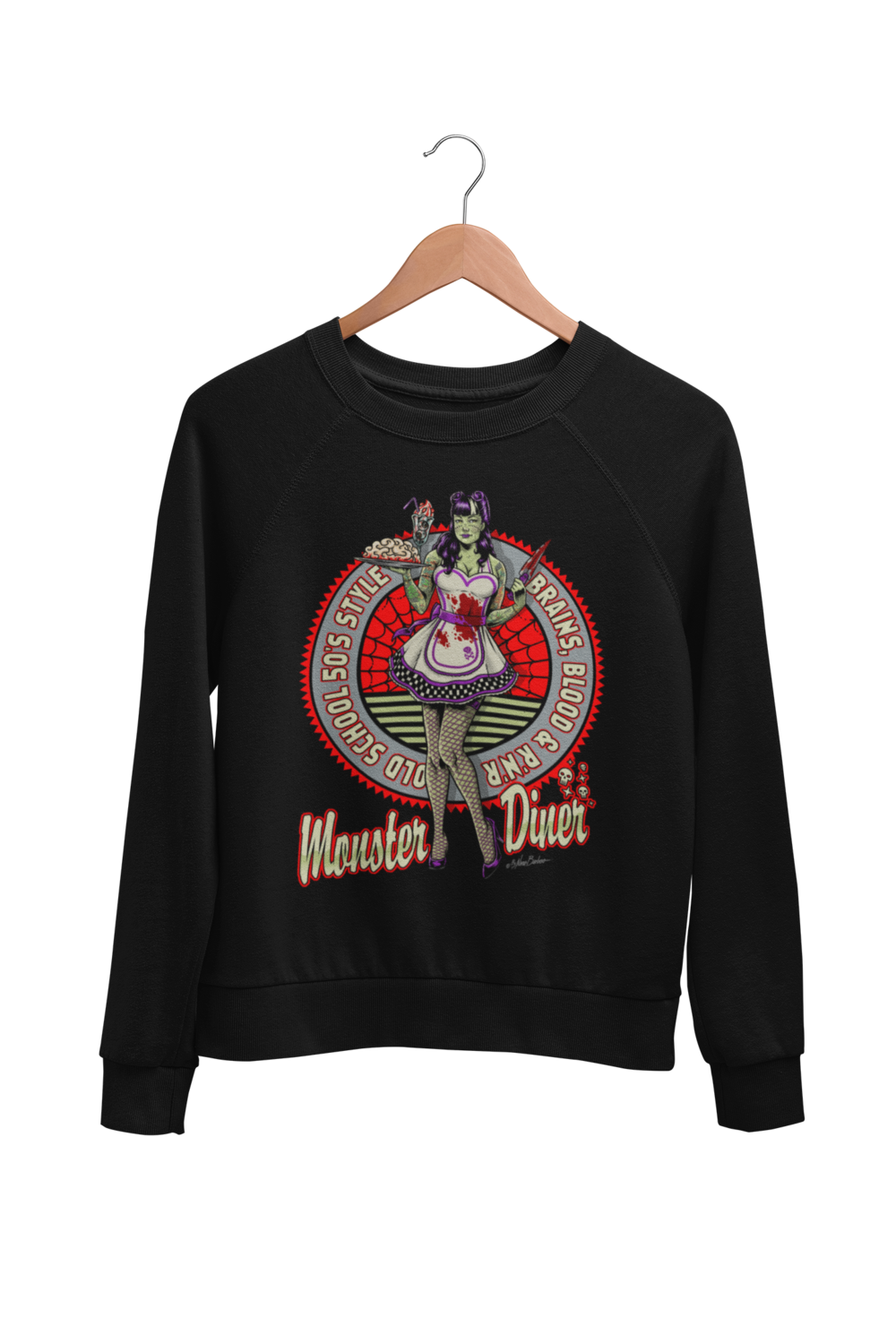 MONSTER DINER SWEATSHIRT UNISEX BY NANO BARBERO