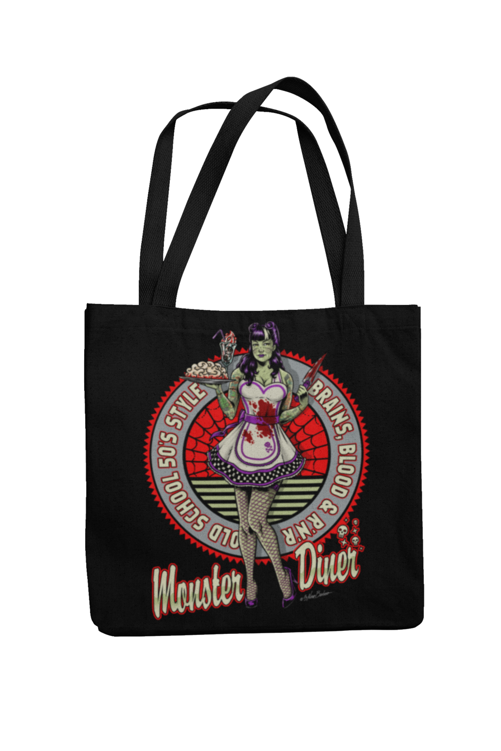 Cotton Bag Monster Diner design by NANO BARBERO