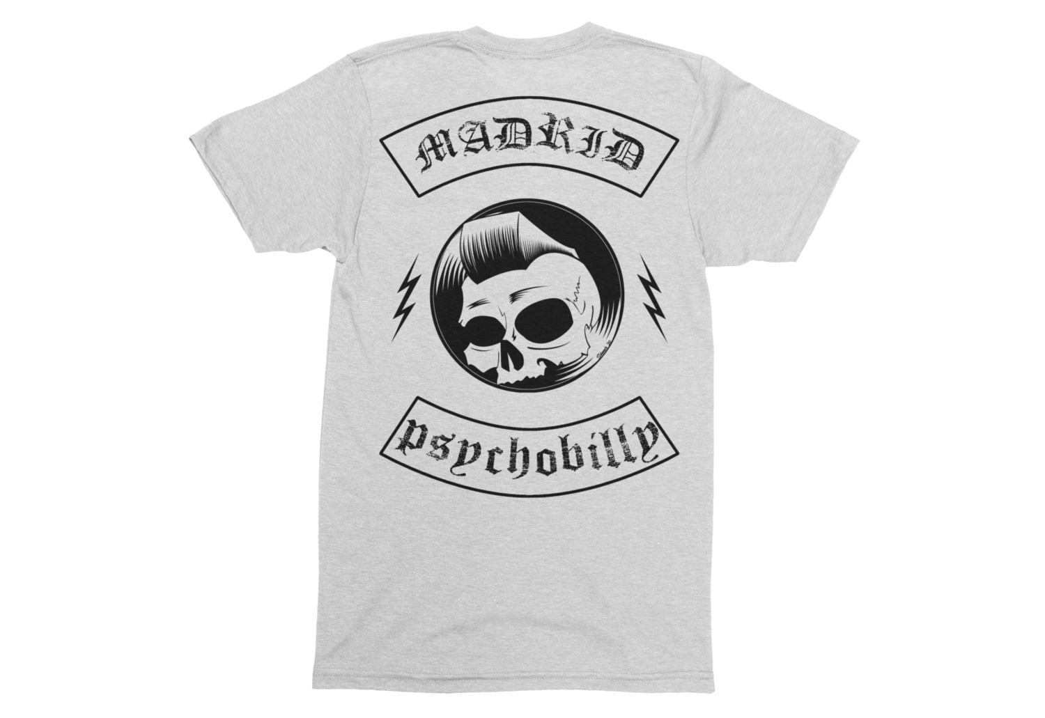 "PSYCHO REBEL & SINNER A GO-GO DJ ""Madrid Psychobilly"" T-SHIRT MAN"