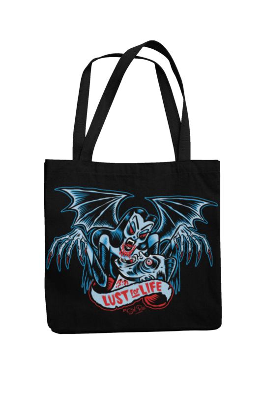 LUST FOR LIFE Cotton Bag  logo design SOL RAC
