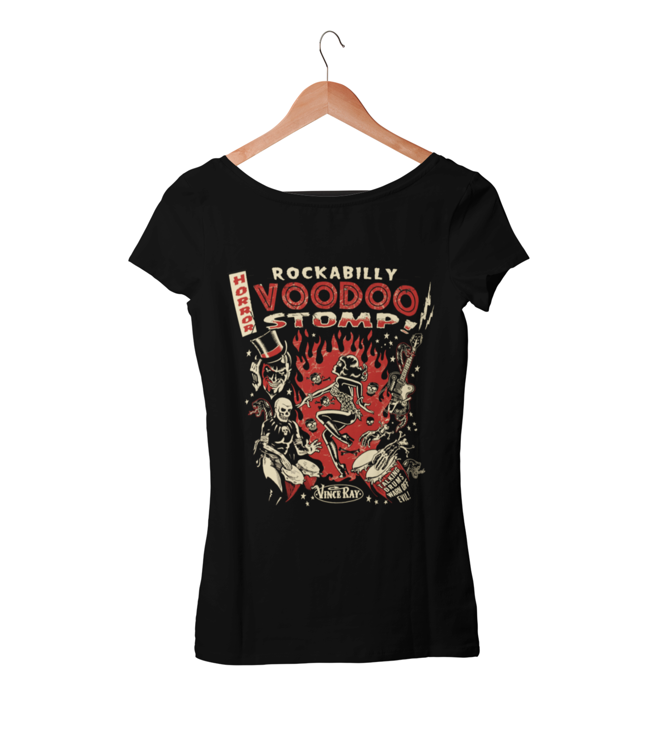 ROCKABILLY VOODOO STOMP T-SHIRT WOMAN BY VINCE RAY
