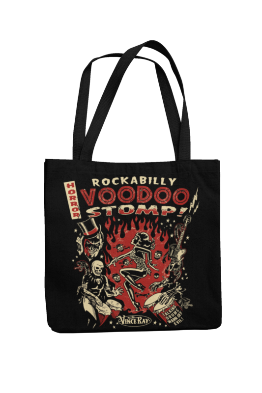 Cotton Bag Rockabilly Voodoo Stomp design by VINCE RAY