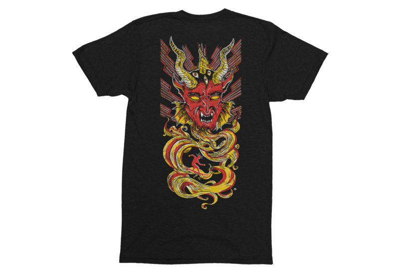 SATANIC SURFERS  T-SHIRT MEN FRONT / BACK