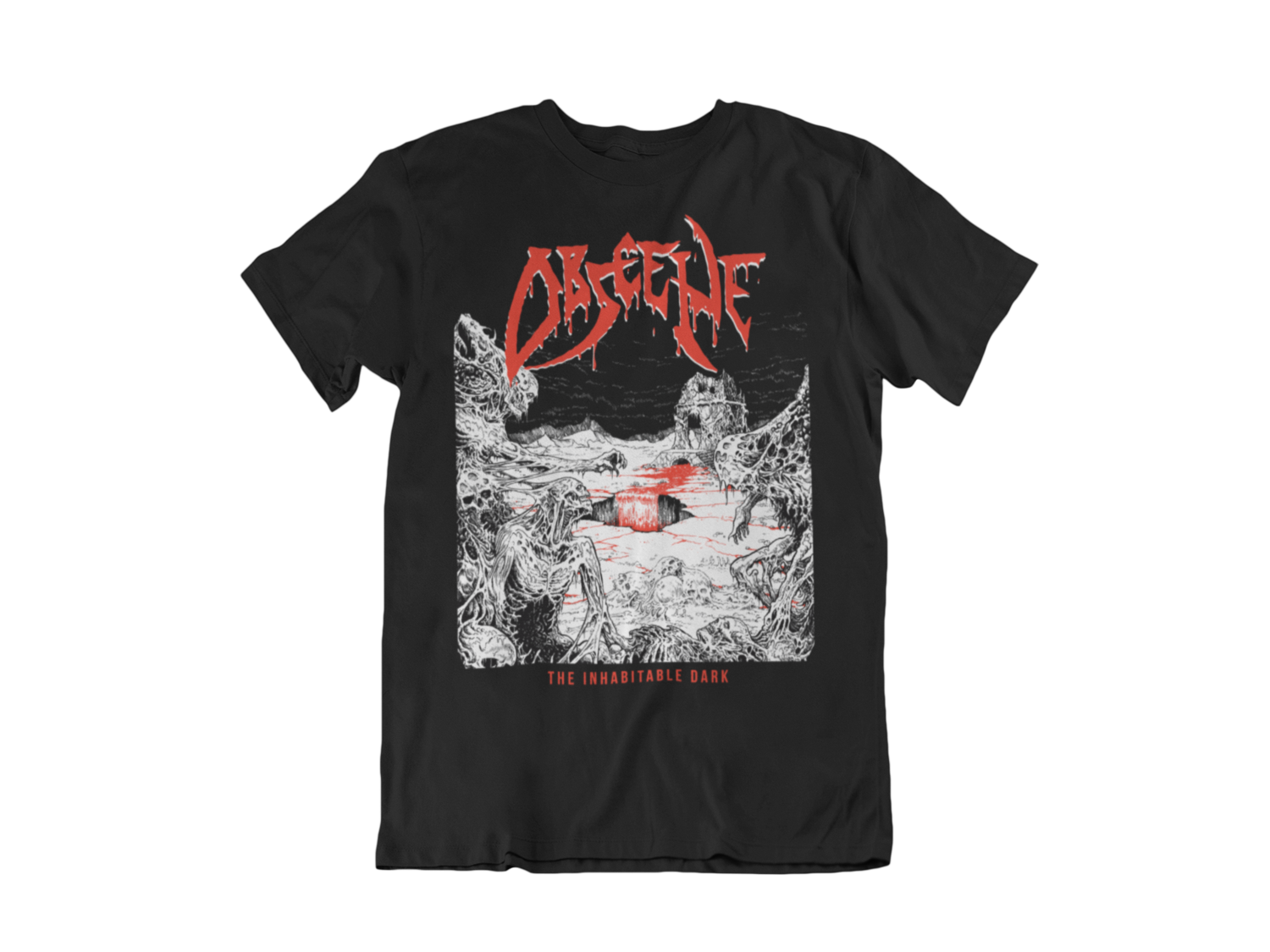 OBSCENE T-SHIRT MAN BLOOD HARVEST RECORDS
