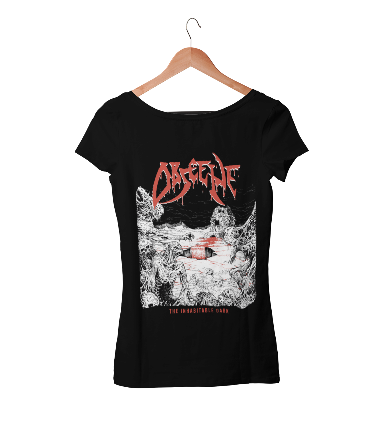 OBSCENE T-SHIRT WOMAN BLOOD HARVEST RECORDS