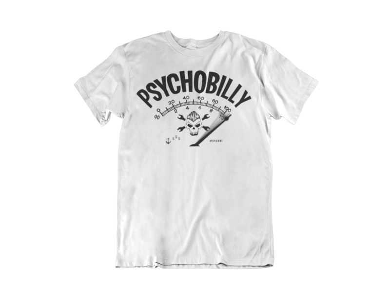 PSYCHOBILLY T-SHIRT MAN BY SUBCULTBILLY DESIGN