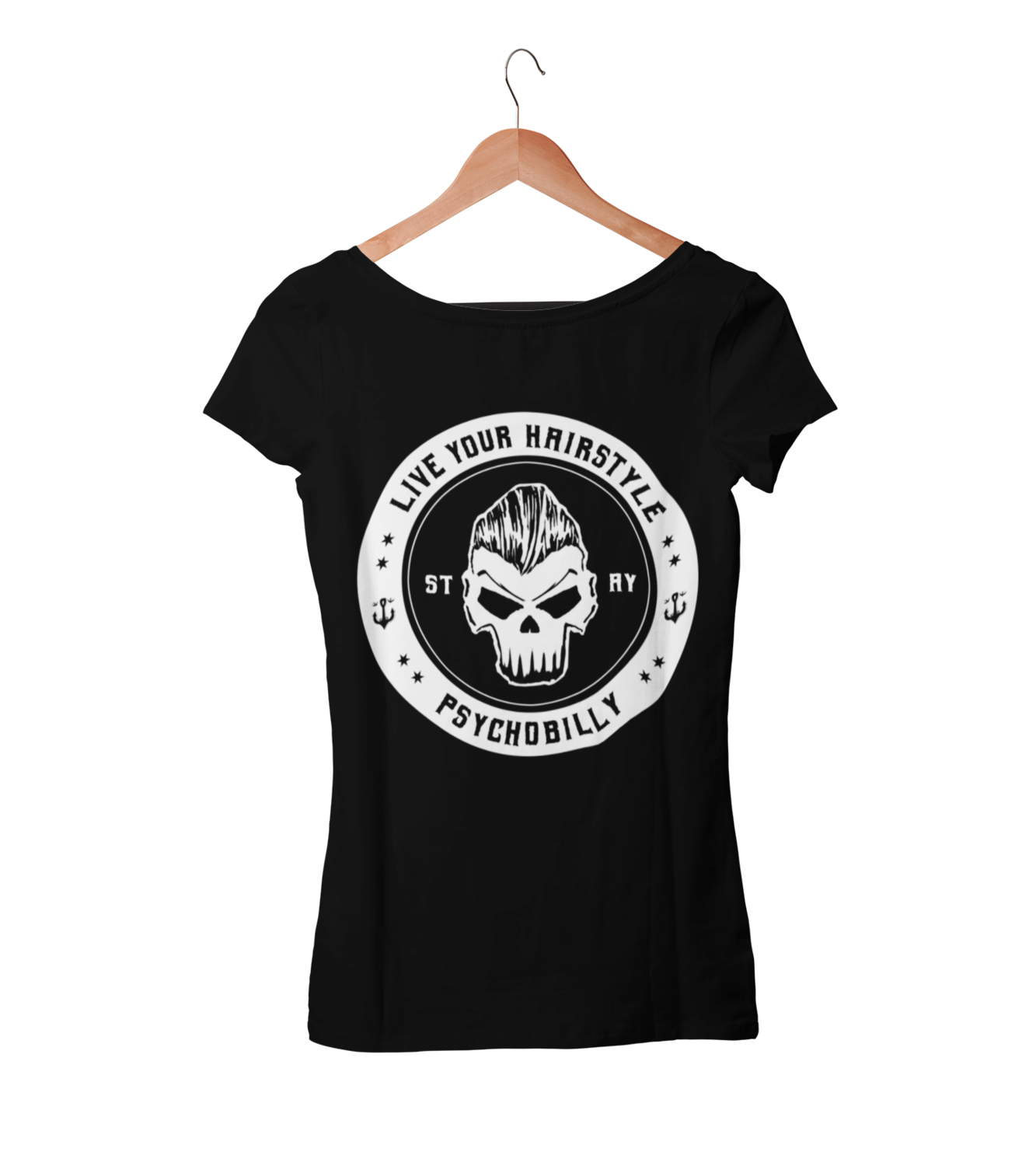 LIVE YOUR HAIRSTYLE T-SHIRT WOMAN BY SUBCULTBILLY DESIGN