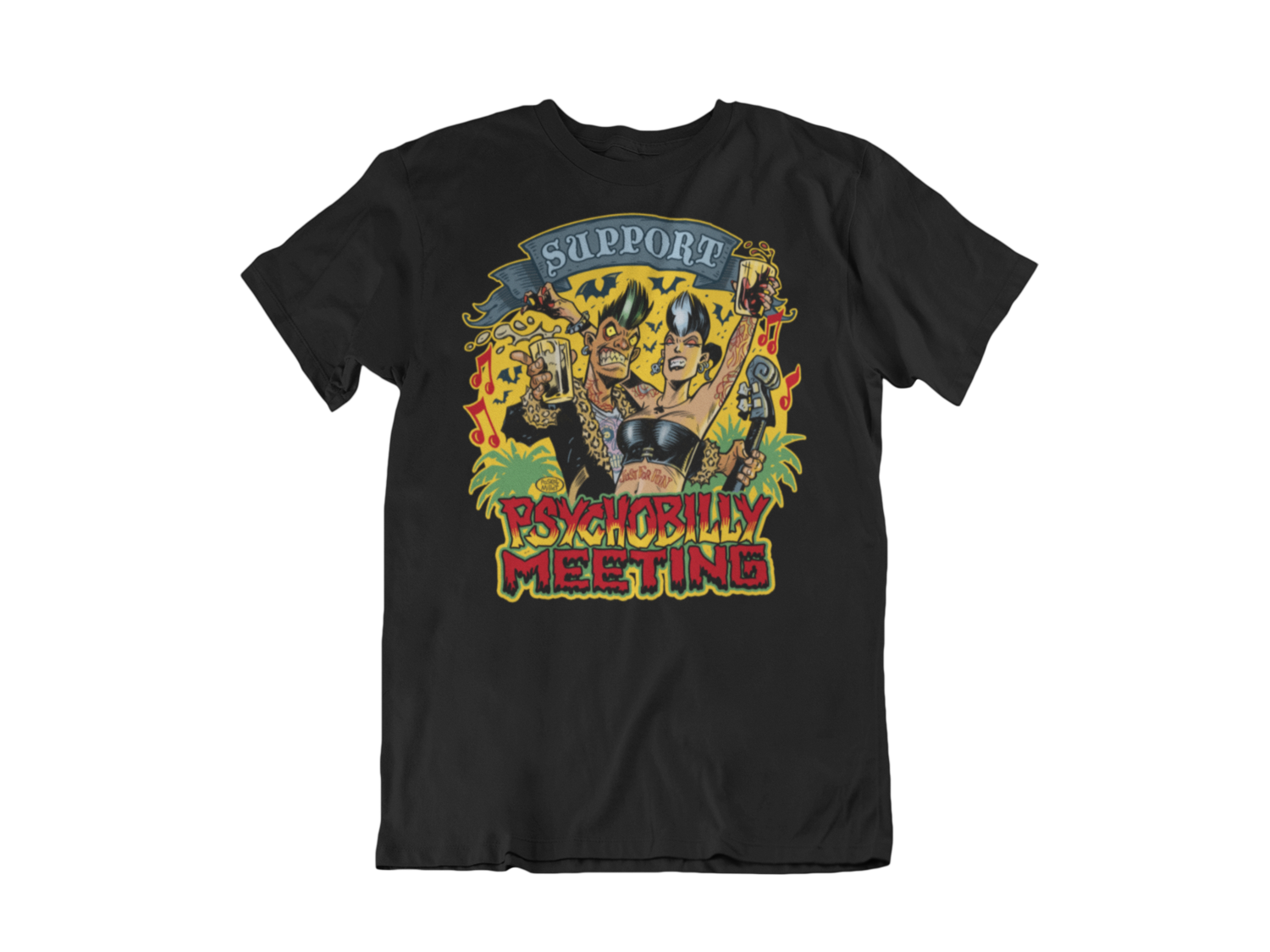 SUPPORT PSYCHOBILLY MEETING 2020 T-SHIRT MAN BY PASKAL