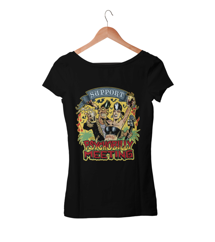 SUPPORT PSYCHOBILLY MEETING 2020 T-SHIRT WOMAN BY PASKAL