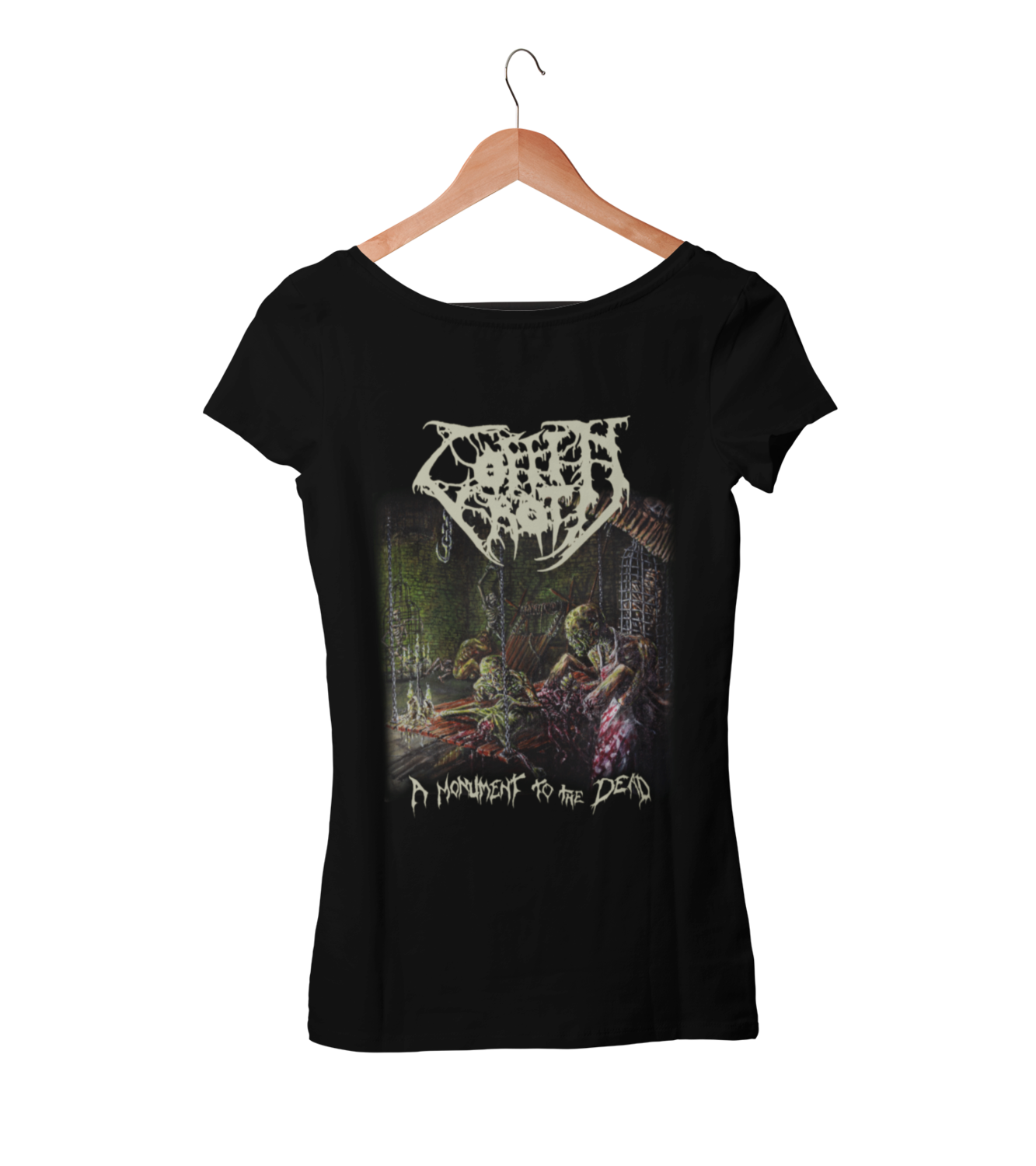 COFFIN ROT T-SHIRT WOMAN BLOOD HARVEST RECORDS