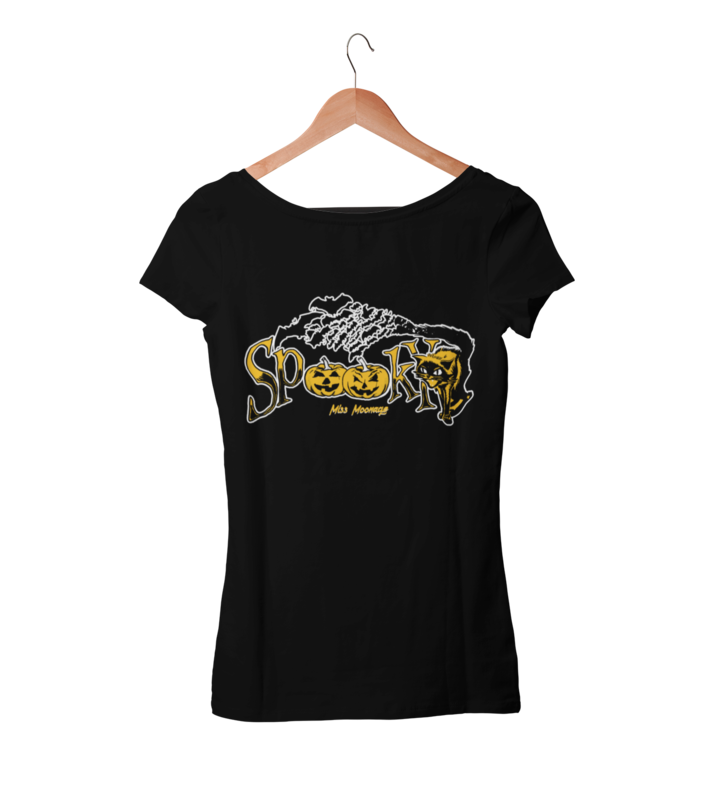 SPOOKY by MISS MOONAGE tshirt for WOMEN