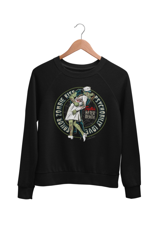 SAILOR ZOMBIE KISS SWEATSHIRT UNISEX BY NANO BARBERO
