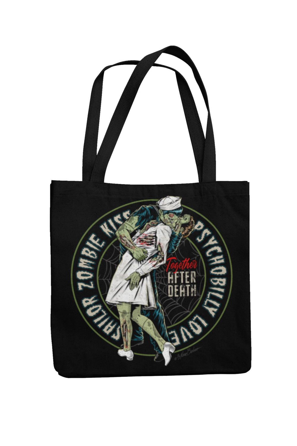 Cotton Bag Sailor zombie kiss design by NANO BARBERO