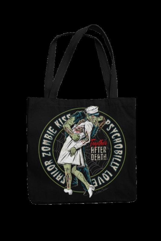 Cotton Bag Sailor zombie kiss design by NANO BARBERO