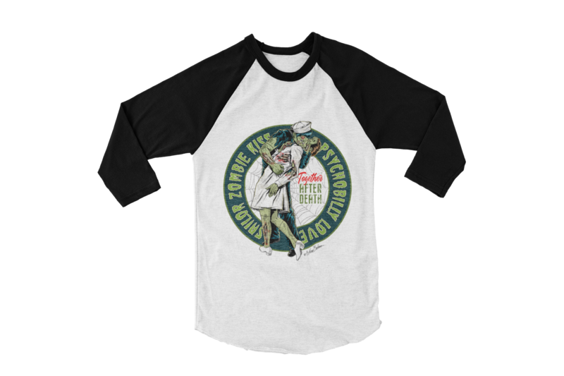 SAILOR ZOMBIE KISS BASEBALL LONG SLEEVE By NANO BARBERO