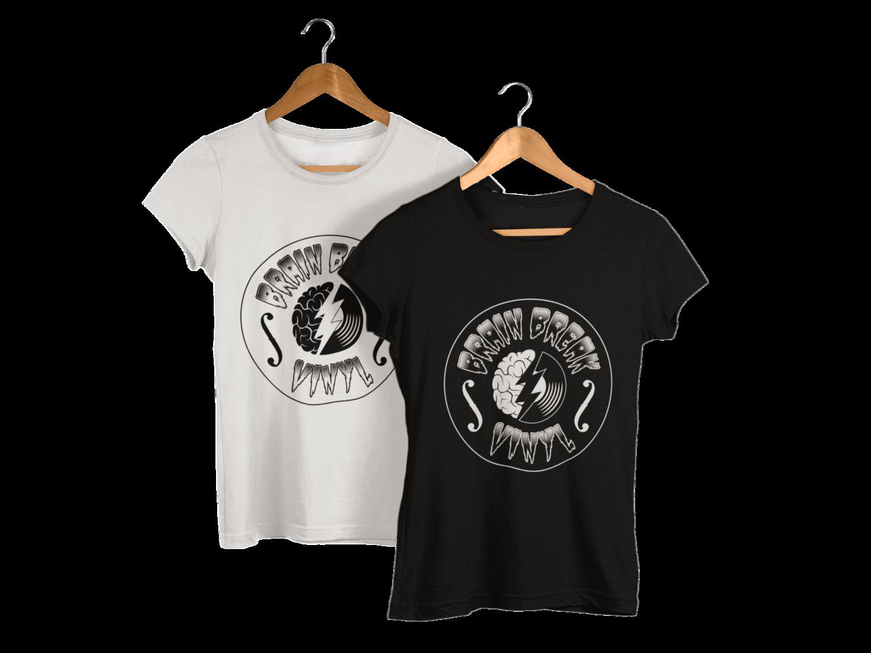BRAIN BREAK VINYL tshirt for WOMEN