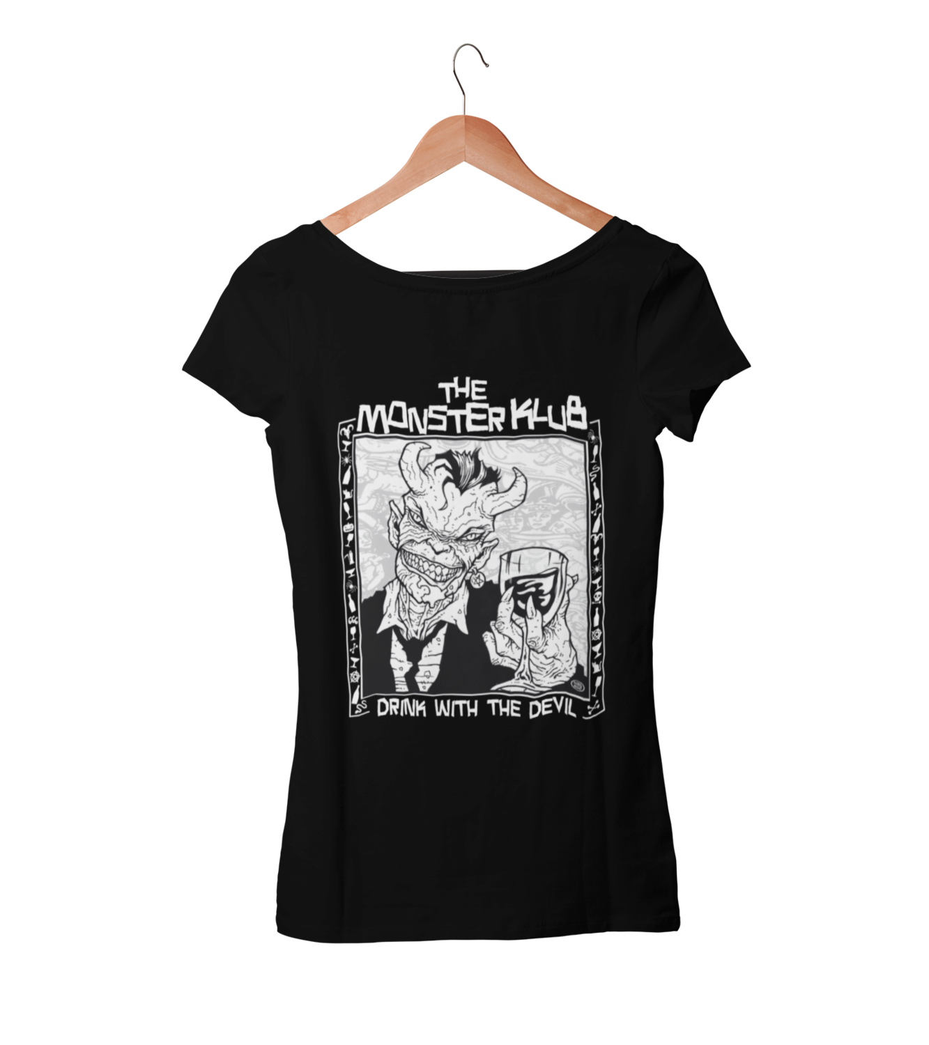 """MONSTER KLUB """"Drink with the devil""""  tshirt for WOMEN"""
