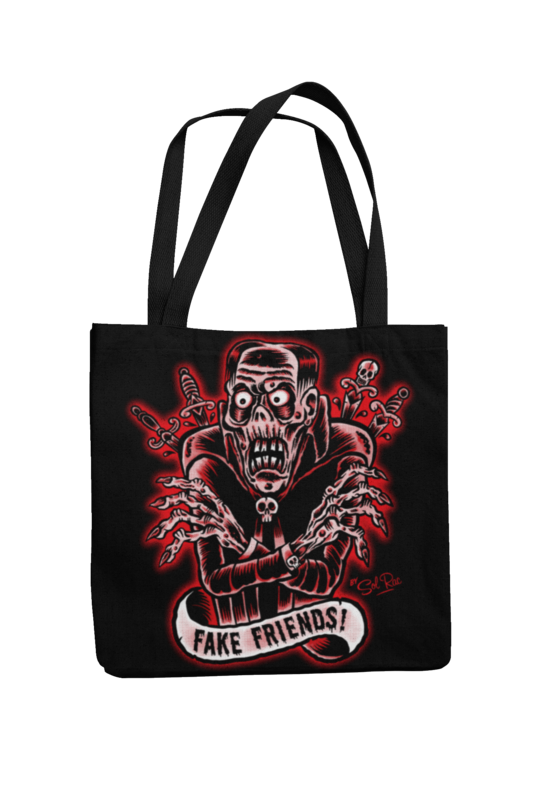 FAKE FRIENDS Cotton Bag  logo design SOL RAC