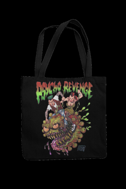 PSYCHO REVENGE Cotton Bag  logo design OSCAR HERTIN