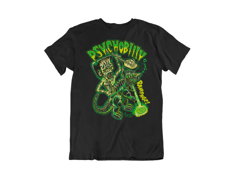 PSYCHOBILLY RAMPAGE T-SHIRT MAN BY SOL RAC