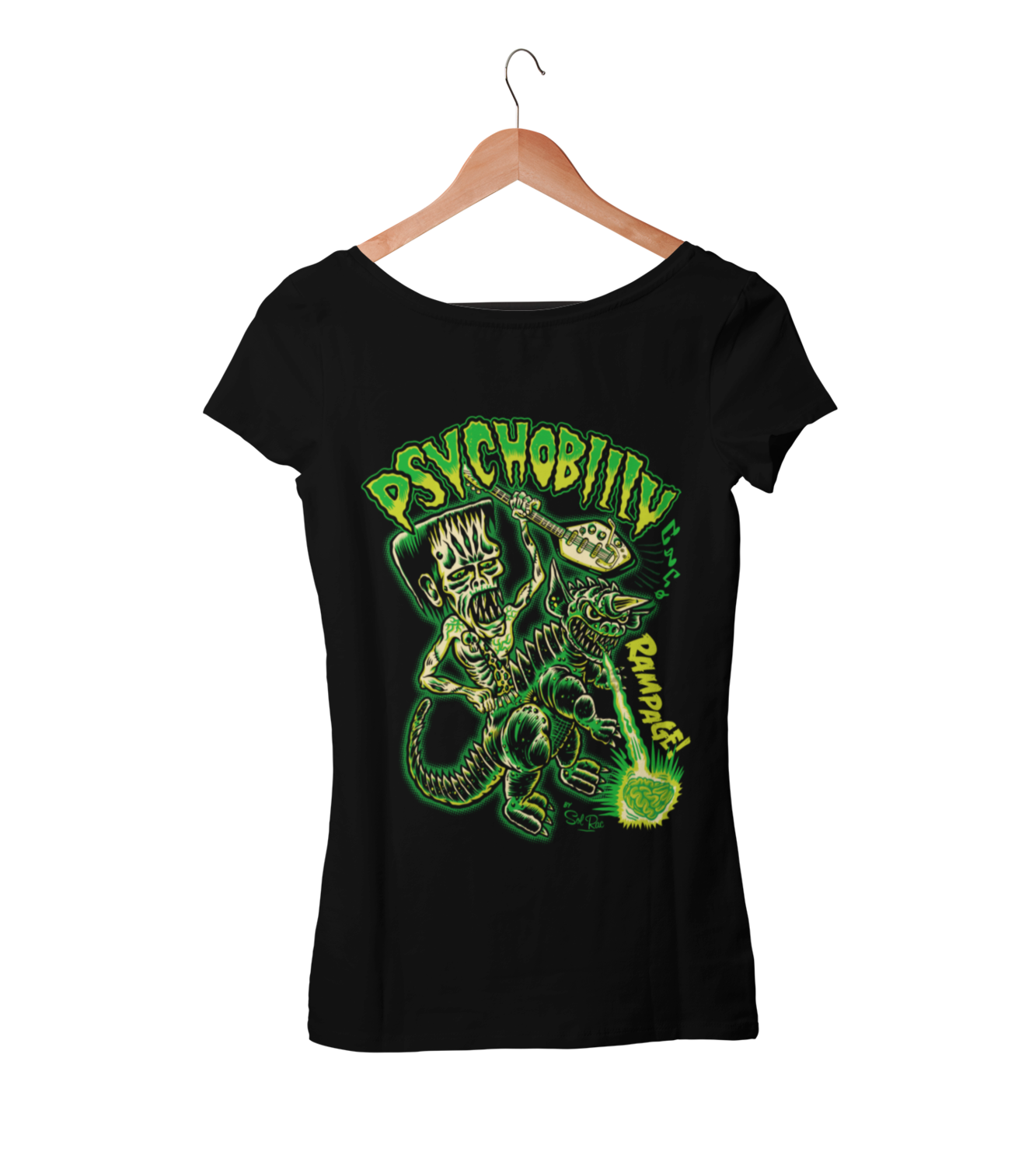 PSYCHOBILLY RAMPAGE T-SHIRT WOMAN BY SOL RAC
