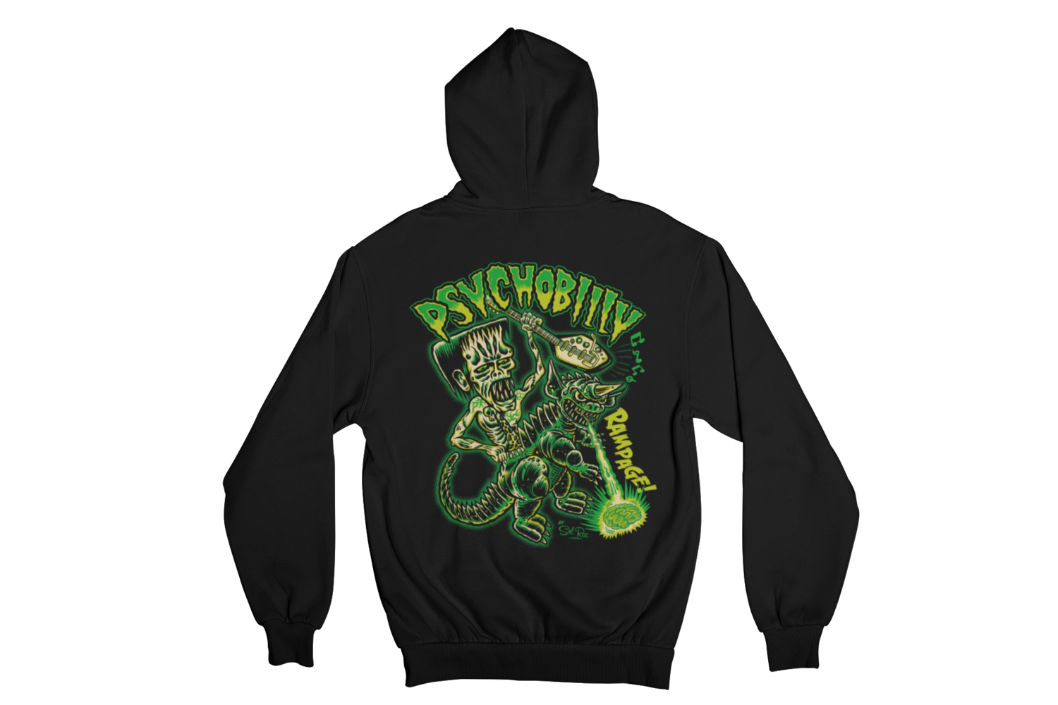PSYCHOBILLY RAMPAGE HOODIE ZIP for WOMEN by SOL RAC