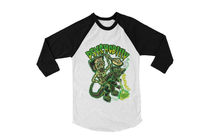 PSYCHOBILLY RAMPAGE BASEBALL LONG SLEEVE By SOL RAC