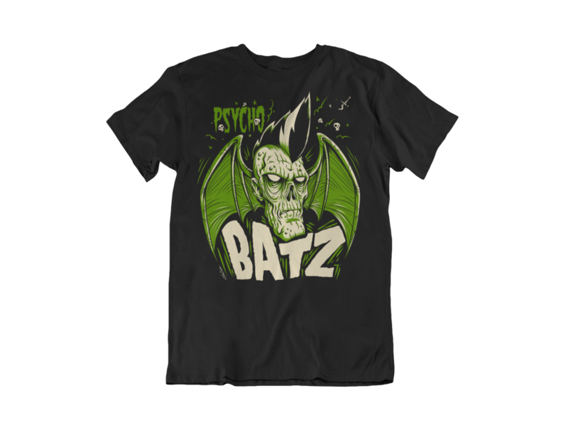 PSYCHO BATZ T-SHIRT MAN BY NANO BARBERO
