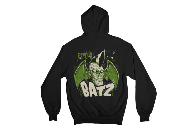 PSYCHO BATZ HOODIE ZIP for WOMEN by NANO BARBERO