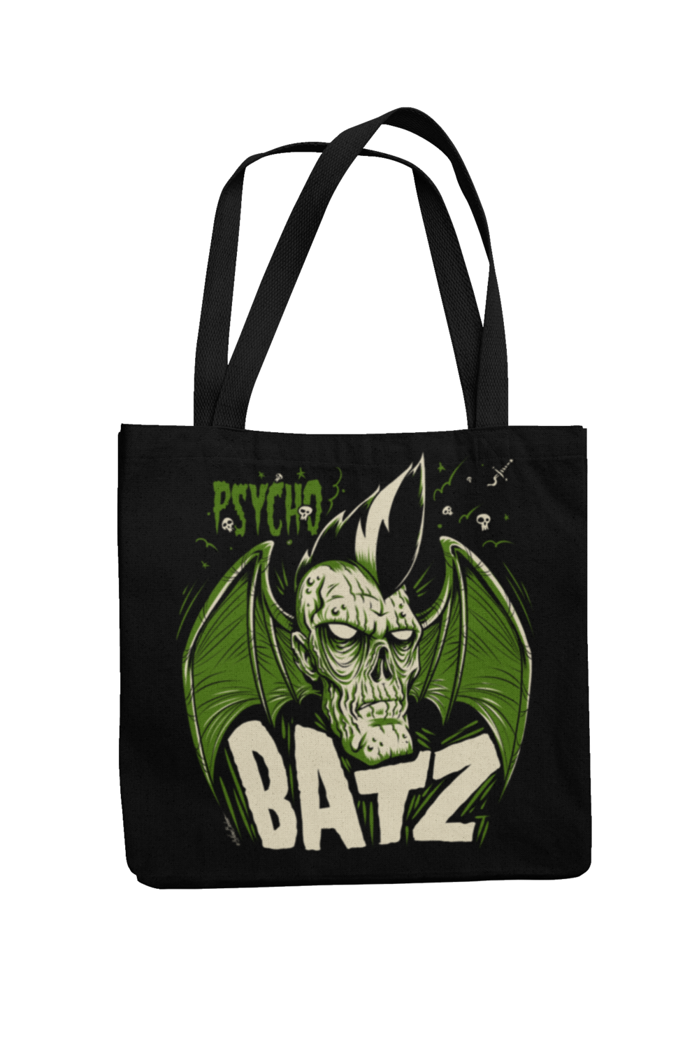 Cotton Bag Psycho Batz design by NANO BARBERO