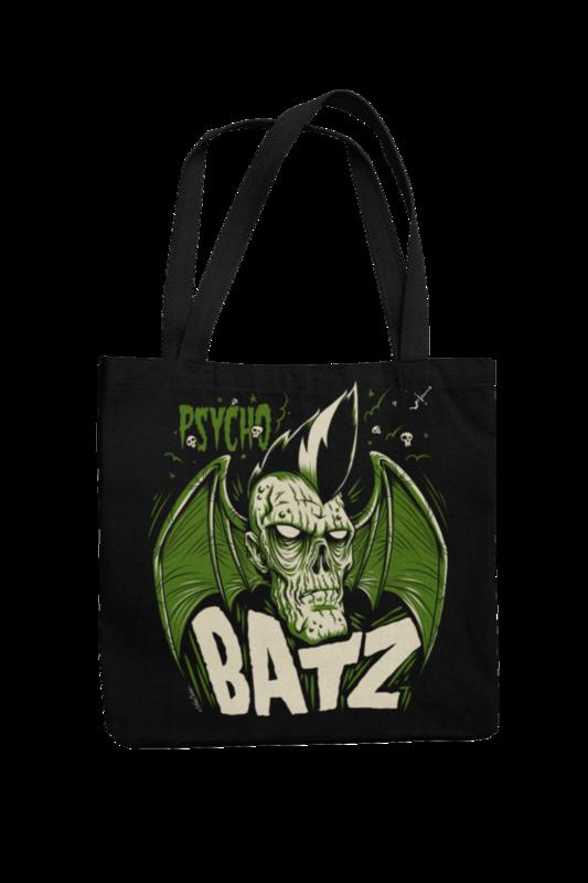 Cotton Bag Psycho Batz design by NANO BARBERO