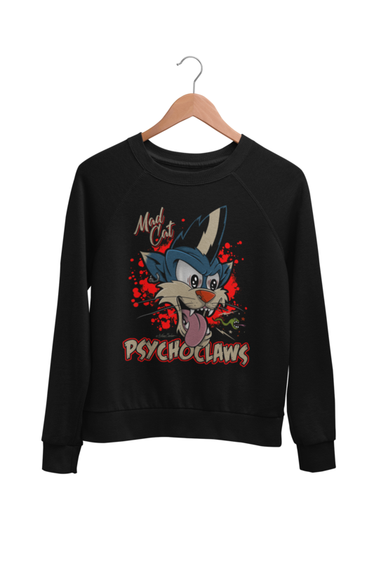 PSYCHO CLAWS SWEATSHIRT UNISEX BY NANO BARBERO