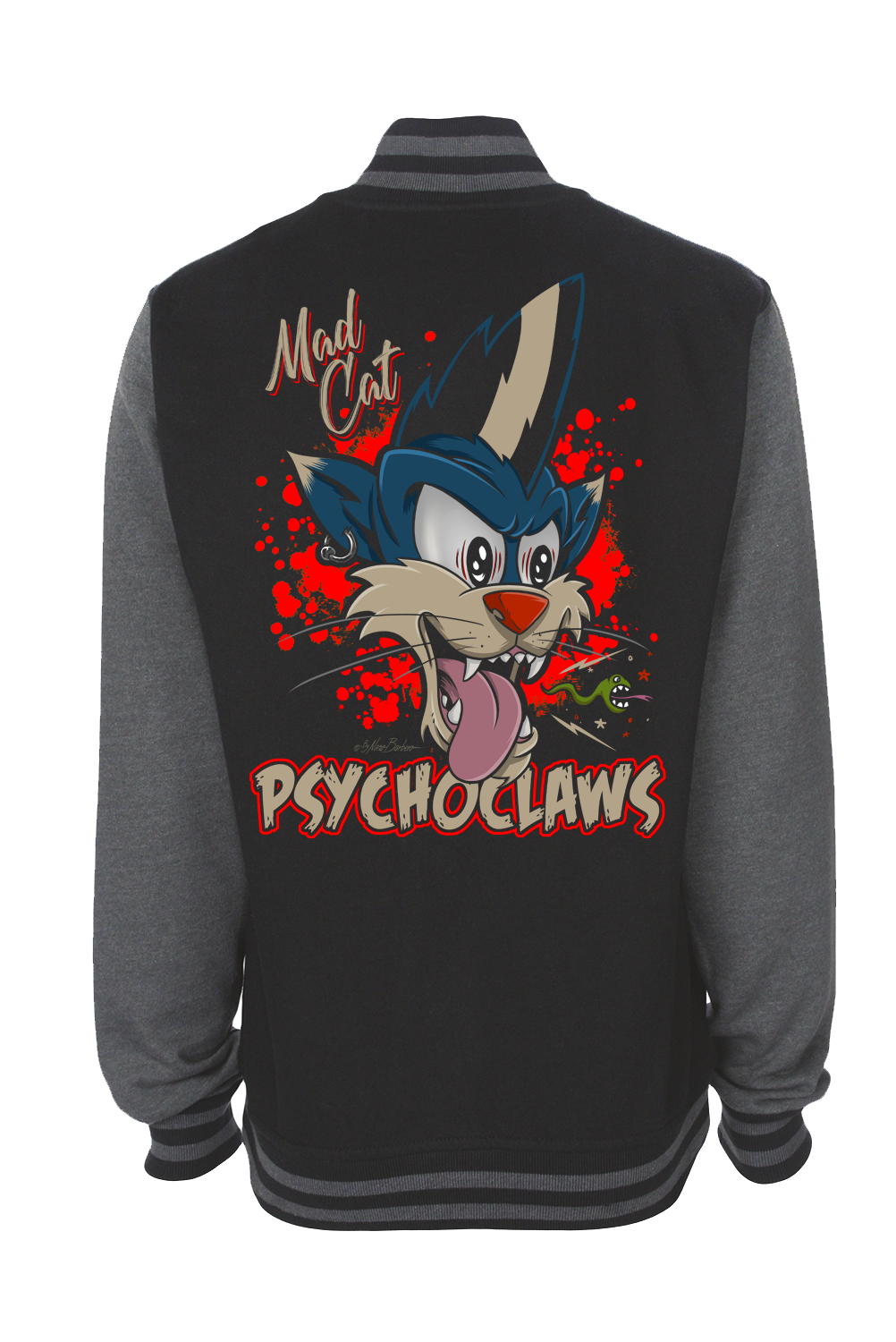 PSYCHO CLAWS VARSITY JACKET UNISEX BY NANO BARBERO