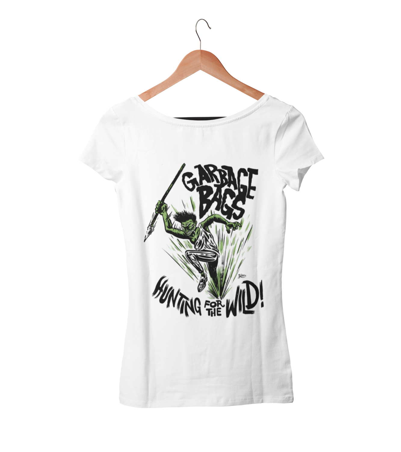 "GARBAGE BAGS ""Hunting for the wild"" T-SHIRT WOMEN"
