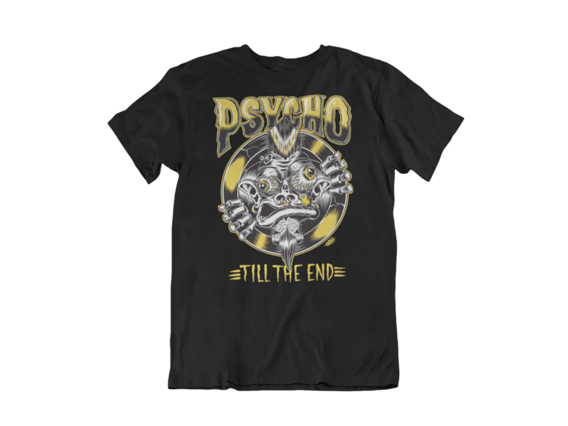 PSYCHO TILL THE END T-SHIRT MAN BY OLAFH