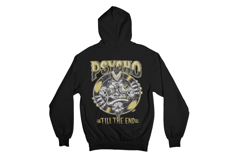 PSYCHO TILL THE END HOODIE ZIP for MEN by OLAFH ACE