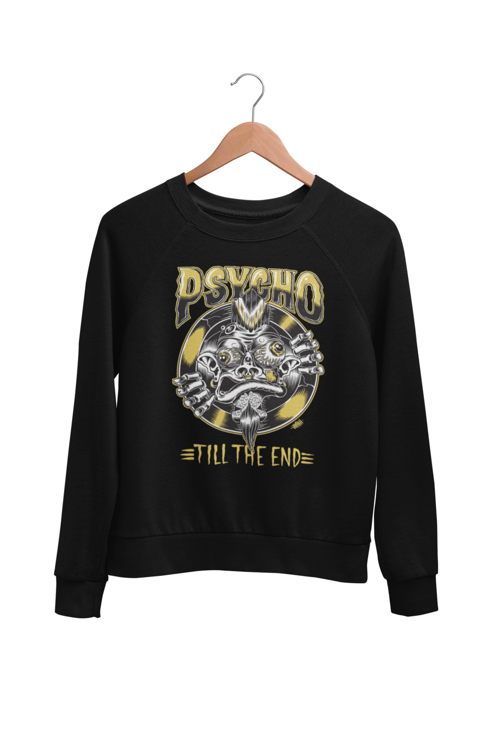 PSYCHO TILL THE END SWEATSHIRT UNISEX BY OLAFH ACE