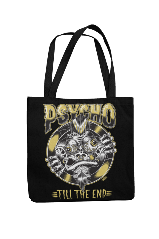 Cotton Bag Psycho till the end design by OLAFH ACE