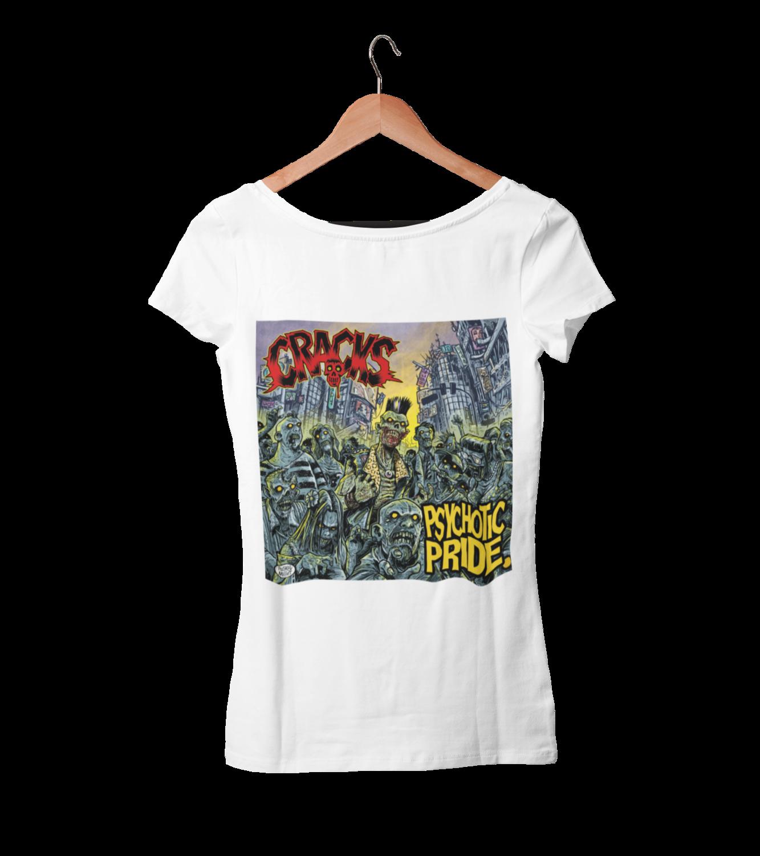 "CRACKS ""Psychotic Pride""  tshirt for WOMEN"