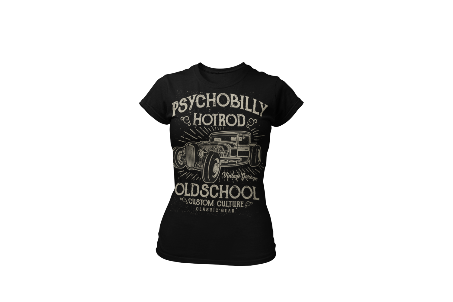 PSYCHOBILLY HOT ROD T-SHIRT FOR WOMEN