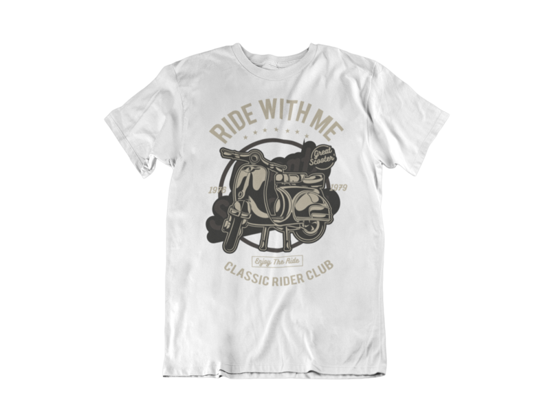 RIDE WITH ME T-SHIRT FOR MEN