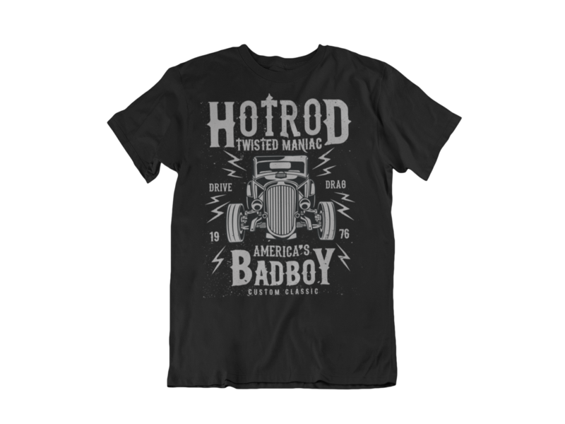 TWISTED HOT ROD T-SHIRT FOR MEN