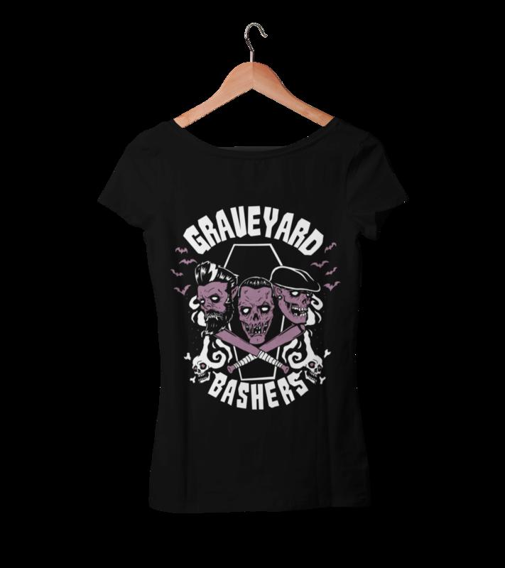 GRAVEYARD BASHERS tshirt for WOMEN