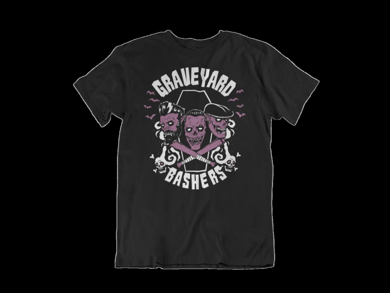 GRAVEYARD BASHERS  tshirt for MEN