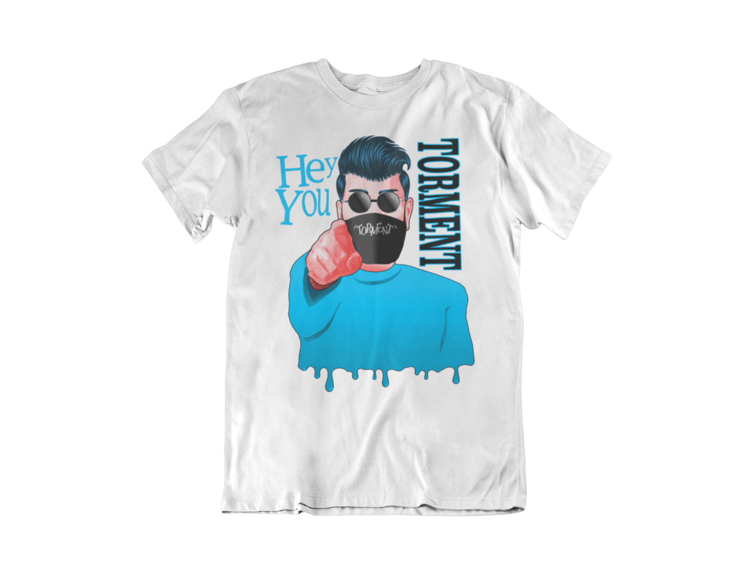 "TORMENT ""Hey you - Mask""  tshirt for MEN"