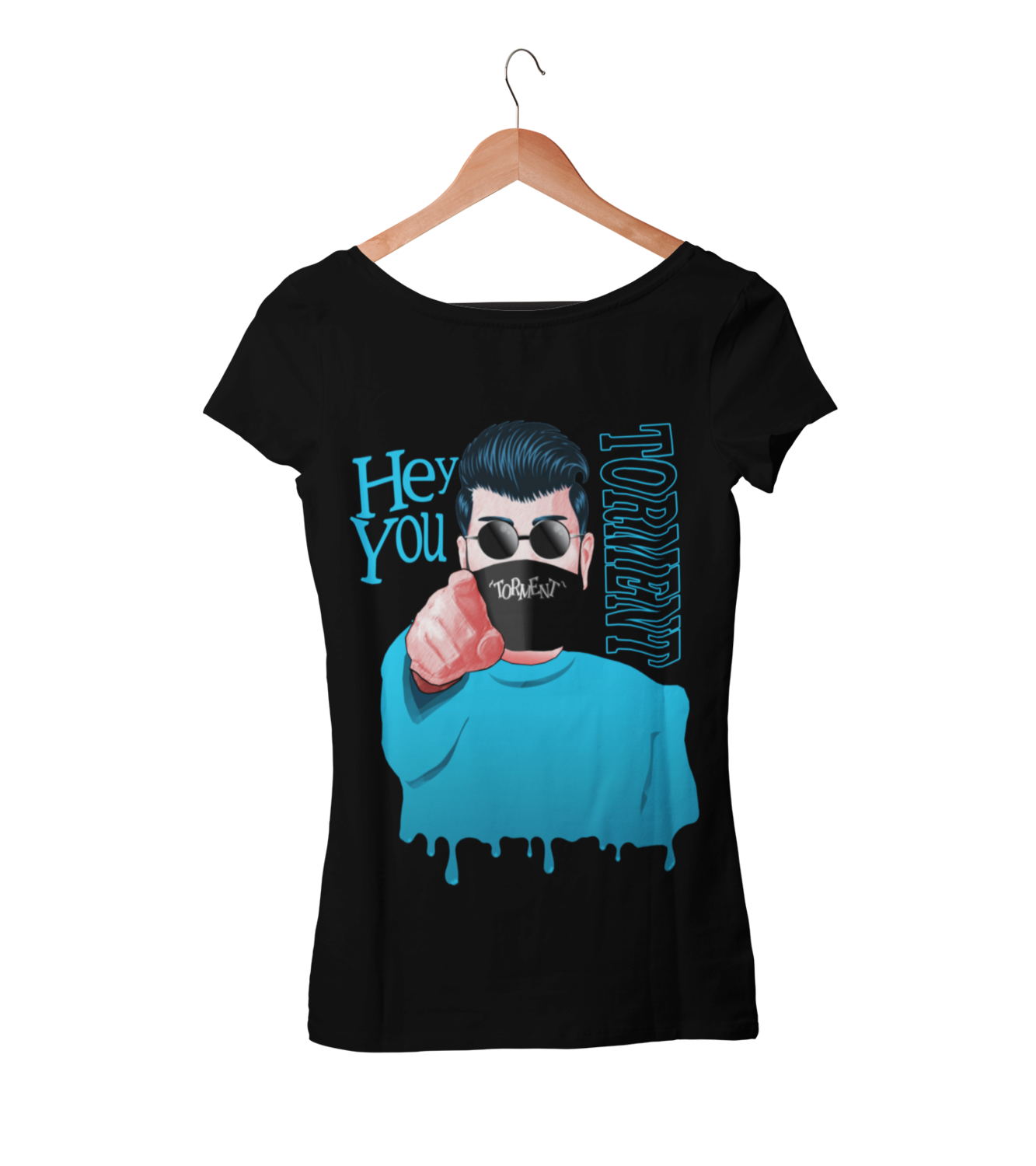 "TORMENT ""Hey you - mask"" tshirt for WOMEN"