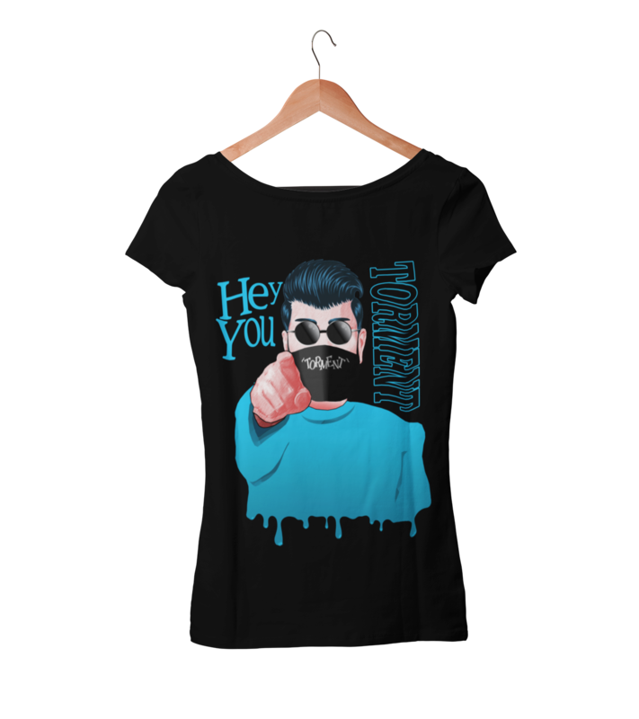 """TORMENT """"Hey you - mask"""" tshirt for WOMEN"""