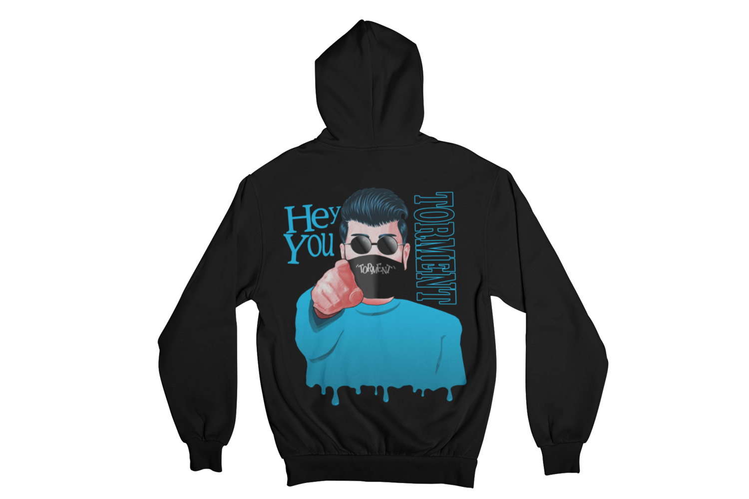 "TORMENT  ""HEY YOU - MASK"" HOODIE ZIP for MEN"